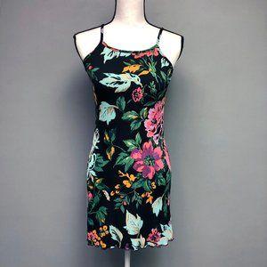 VTG 90s Babydoll Flounce Hem Mini Dress Stretch